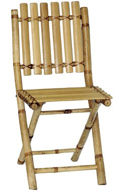 This chair is made from eco friendly bamboo and is perfect for when extra guest shows up for you luau or tropical adventure, or even to play bridge with! Light weight yet sturdy and folds for easy sto