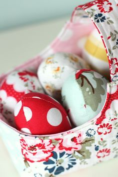 Fabric Basket and Fabric Eggs Tutorials - Diary of a Quilter - a quilt blog okay this is so cool for a little!!