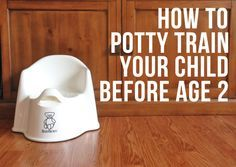 How to Potty Train Your Child Before Age 2 - This woman is genius by using the bear to show her girls how to potty.