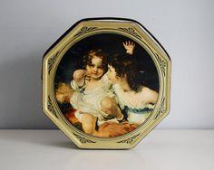 Vintage Sunshine Biscuits Tin Art Portrait Girls by CalloohCallay