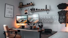 My Dream Desk Setup 2020 | Solid Wood + Standing Desk - YouTube Dream Desk, My Dream, Apartment Interior Design, Interior Styling, Desk Pad, Desk Shelves, Desk Setup, Modern Desk, Game Room