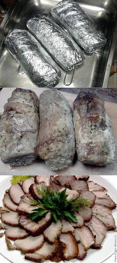 Домашняя буженина. Ukrainian Recipes, Russian Recipes, Russian Dishes, Homemade Sandwich, Vegetarian Recipes, Cooking Recipes, Meat Sandwich, Good Food, Yummy Food