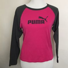 Puma raglan sleeve shirt Long sleeve Puma athletic shirt. Good condition. Puma Tops Tees - Long Sleeve