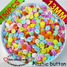 150PCS mixed  plastic new cartoons sewing clothing  buttons clothes accessory P-024 $2,98
