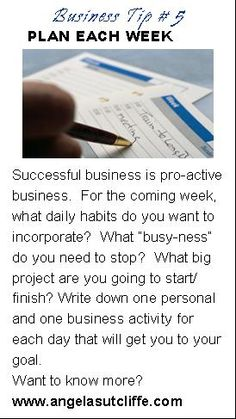 Practical tips for everyday business from Angela Sutcliffe, Business Consulting