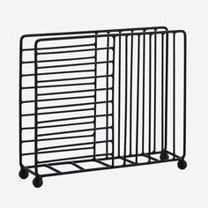 Suport servetele din fier - Negru Kitchen Cart, Magazine Rack, Storage, Metal, Furniture, Home Decor, Products, Danish Design, Hang In There