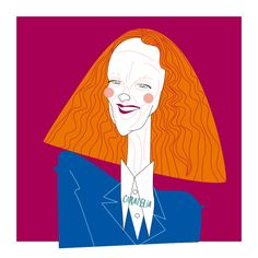 Grace Coddington Illustration 🕶👛 #caratelia #illustration #retratos #tucara #portait #regalos #cuadros #barcelona #gracecoddington #usa #vogue #fashion #therealgracecoddington
