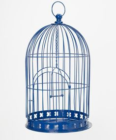 Another great find on #zulily! Blue Blooms Birdcage #zulilyfinds