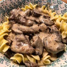 Instant Pot Beef Stroganoff | Pressure Luck Cooking Stroganoff Recipe, Beef Stroganoff, Recipe With Cream Of Mushroom Soup, Zone Recipes, Creamed Mushrooms, Stuffed Mushrooms, Americas Test Kitchen, Slow Cooker Recipes, Crockpot Recipes