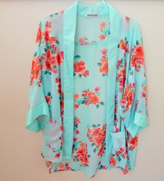 Floral Kimono! Perfect for Spring/Summer www.myjazzyk.com #love #ootd #style #kimono #floralprint