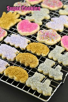 These fun Sugar Cookies are buttery, eggless, and easy to handle. Only 5 ingredients and your choice of shapes and sprinkles. | RotiNRice.com