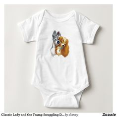 Classic Lady and the Tramp Snuggling. Baby, bebé. Disney. Producto disponible en tienda Zazzle. Vestuario, moda. Product available in Zazzle store. Fashion wardrobe. Regalos, Gifts. Link to product: http://www.zazzle.com/classic_lady_and_the_tramp_snuggling_disney_baby_bodysuit-235629686369494188?CMPN=shareicon&lang=en&social=true&rf=238167879144476949 #disney #camiseta #tshirt