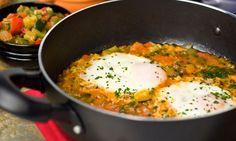 Receta de Huevos con pisto