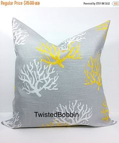 PILLOW SALE. Pillow cover. 16x16.coral. by TwistedBobbinDesigns