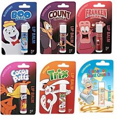 Breakfast on the go with cereal lip balm! Geeks, Diy Foot Soak, Cocoa Puffs, Flavored Lip Gloss, Nice Lips, Baby Lips, Weird Food, Lip Care, Princesas Disney