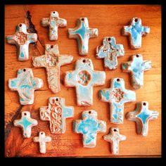 Pottery Crosses Galore... Remember the Cross