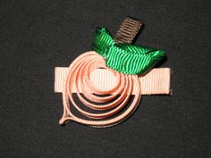 NEW PEACHES Girls Ribbon Hairbow Clip Bow by BiancasBoutiqueBows, $4.99 - Love it!