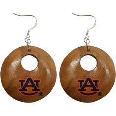Dayna U Auburn Tigers Round Wooden Earrings