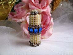 Stunning Jeweled Lipstick Case