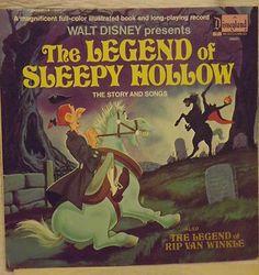 Vintage Halloween Collectible ~ Walt Disney * The Legend of Sleepy Hollow Record ©1971
