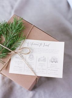 welcome gift basket for out of town guests; Laura Murray Photography