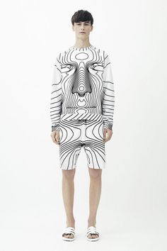 See Christoper Kane's graphic 3D body mapping prints for spring