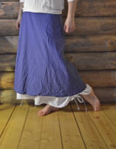 Womens Long Half Slip Extender Petticoat White Cotton w/ Embroidery Eyelet Lace Border Layered Skirt