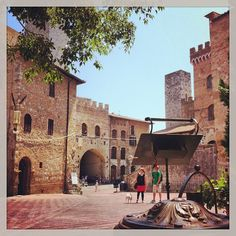 San Gimignano, Tuscany, Italy--Even though I went here with my married female friend and her toddler, this was easily the most romantic place I ever experienced.