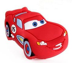 10 Pc. Red Color Lightning McQueen Car Cartoon Pulls/Cabinet Knobs/Dresser Pull