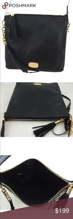 """Michael Kors Bedford Large Tz Hobo bag Brand new. 13""""x12""""x4"""". Michael Kors Hobo shoulder bag  pebbled leather with golden hardware removable strap 19"""". Handle drop 4.5"""" top zip with leather tassel  inside monogram lining  one zip and four open pockets. Stunning bag. Michael Kors Bags Hobos"""
