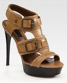Burberry - platform heels with buckles