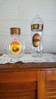 Vecchie bottiglie ciliege toschi-ananas di lovelymore su Etsy
