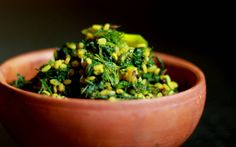 Shepuchi Bhaji Recipe (Stir Fried Maharashtrian Suva/Dill Greens)