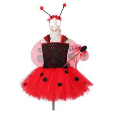 Ladybug Tutu Dress for Girls Halloween Birthday Party Outfit Toddler Halloween Costumes, Christmas Costumes, Girl Costumes, Halloween Kids, Halloween Christmas, Christmas Stage, Children Costumes, Ladybug Tutu, Ladybug Costume