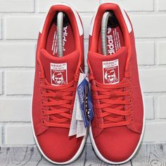 9b2fb634e6 Women Adidas Originals Stan Smith Canvas W UK Size 5 5 EUR 38 5 Full Red