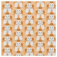Tangerine Lilly Hawk Custom Fabric - craft diy cyo cool idea