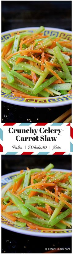 Simple and quick Paleo vegetable side dishes. They taste even more delicious the day after. Perfect for weekend meal prep. Get three simple and quick Paleo Asian side dishes Asian Side Dishes, Keto Side Dishes, Paleo Recipes, Asian Recipes, Real Food Recipes, Paleo Menu, Vitamix Recipes, Weekend Meal Prep, Carrot Slaw