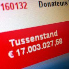 En we hebben de 17 miljoen bereikt!!! Tof :-)
