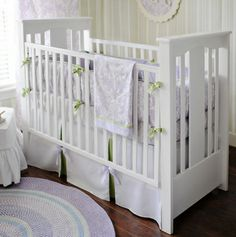 Sweet Violet Crib Bedding Set...<3 and I don't even like purple...