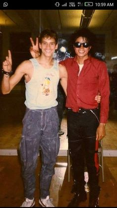 I don't know that guy but mj looking very cute...