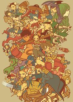 Marvel vs Capcom 2. I will challenge anyone!  Colossus, Captain Commando, Jill FTW!