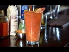 Bloody Mary - Elixir bartender - H. Joseph Ehrmann says this is the world's best Bloody Mary recipe. Award Winning Bloody Mary Recipe, Best Bloody Mary Recipe, Bloody Mary Recipes, Party Drinks, Cocktail Drinks, Cocktail Recipes, Alcoholic Drinks, Cocktails, Cocktail Videos