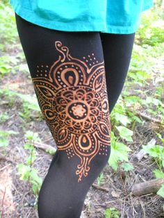 New design up on my etsy shop!!!!!!!! Etsy listing at https://www.etsy.com/listing/189249848/mandala-flower-leggings