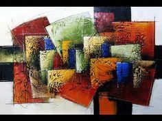Pintar é fácil-Curso de Pintura em tela Abstrato - Online - YouTube