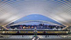 Calatrava's Liège-Guillemins Railway Station | Belgium | Architectural Lighting | Interior Lighting