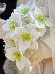 Resultado de imagen de свадебные букеты из бисера