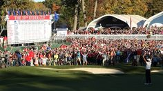 Martin Kaymer of Europe drains the winning putt at the Ryder Cup in ...