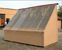 Plans for solar kilns for drying wood for in preparation for woodworking. Wood Kiln, Kiln Dried Wood, Woodworking Shop, Woodworking Plans, Woodworking Projects, Lumber Storage, Wood Storage, Portable Bandsaw Mill, Solar Kiln