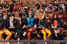 Models Arthur Kulkov, Benjamin Eidem, Marlon Teixeira, RJ King, and Viggo Jonasson  for Tommy Hilfiger fall winter 2013 advertisement captured by Craig McDean.