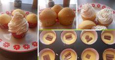 Fincsi receptek: Egyszerű muffin, a tésztát keverd össze, dobj bele egy kis csokoládét és nemsokára kész is! Cheesecake Brownies, Crafts For Kids, Dessert Recipes, Cooking Recipes, Cupcakes, Cookies, Breakfast, Presne Tak, Basket